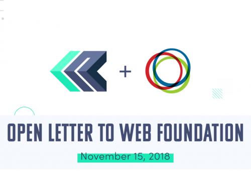 Lettre ouverte à la Fondation Web